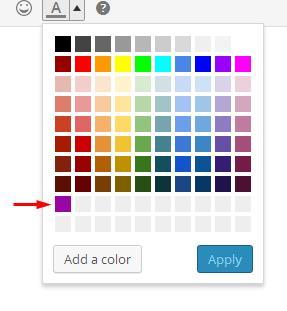 TinyMCE Color Pickerでカスタムの色を追加